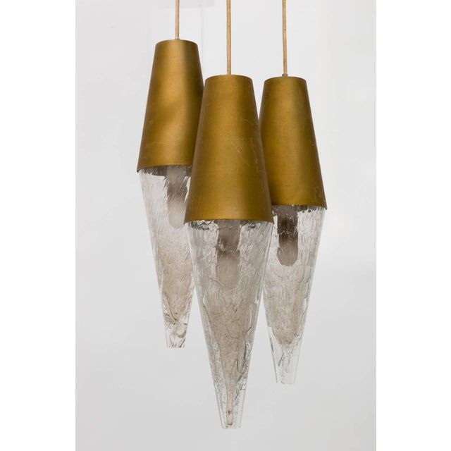 1950s German Midcentury Staggered Pendant Fixture For Sale - Image 5 of 8