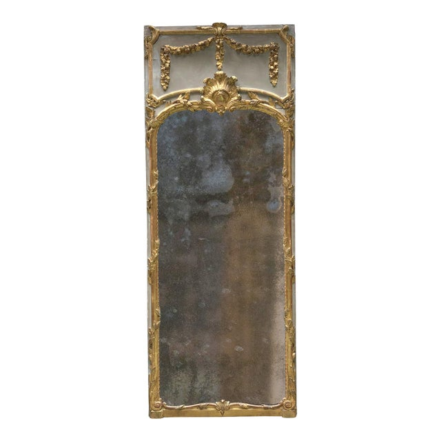 Louis XVI 18th Century Trumeau Mirror For Sale - Image 10 of 10
