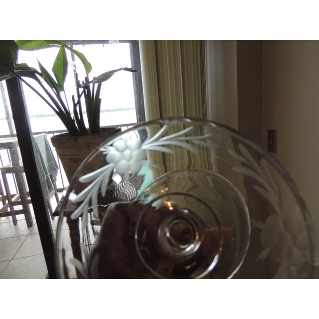 Vintage Cut Crystal Footed Candy Dish For Sale - Image 4 of 6