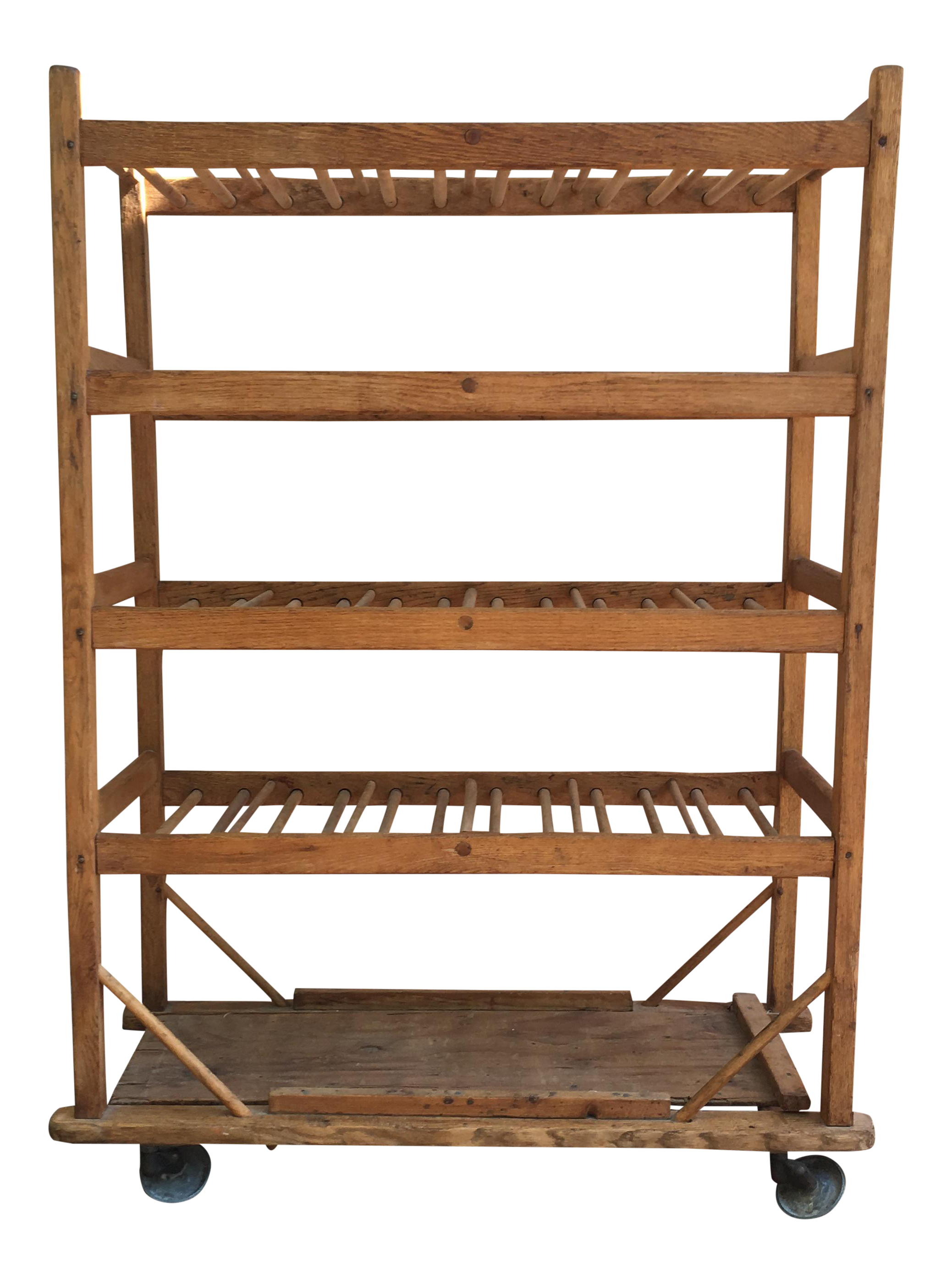 Vintage Industrial Wooden Bakers Rack