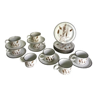 1960's Midwinter Stonehenge Tea Coffee Set With Mug Set and Luncheon Plates - 21 Pieces For Sale