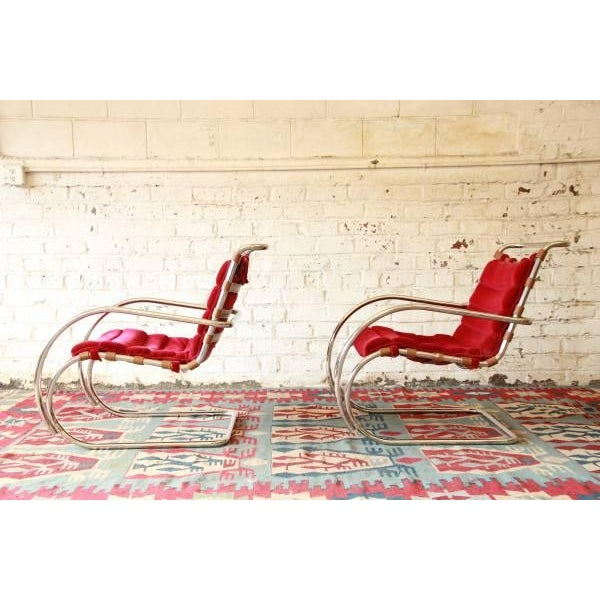 Mies Van der Rohe MR-20 Lounge Chairs - A Pair - Image 4 of 9
