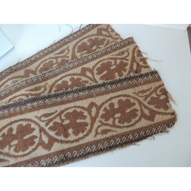 """Set of """"4"""" Jute Woven Arts and Crafts Style Decorative Trims. In shades of camel. tan and black. Ideal for pillows or..."""