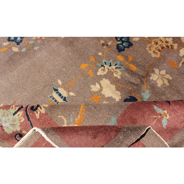 1920s Vintage Chinese Art Deco Rug - 9′ × 11′8″ For Sale - Image 9 of 11