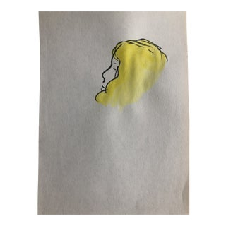 Lady in Profile by Inga-Britta Mills, 1980s For Sale