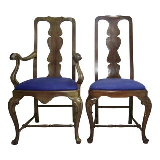 18th Century Queen Anne Chairs - A Pair For Sale