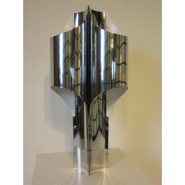 Silver Sonneman Sculptural Chromed Table Lamp For Sale - Image 8 of 8