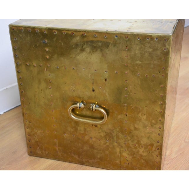 Sarreid Brass Cube End Table - Image 5 of 8