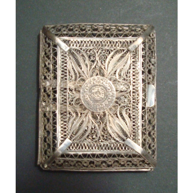 Vintage Filigree Silver Cigarette Case - Image 2 of 6