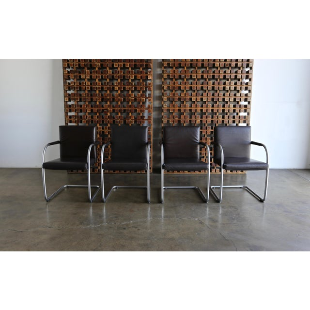 1990s Leather Armchairs by Antonio Citterio & Glen Oliver Low for Vitra - Set of 4 For Sale - Image 5 of 10