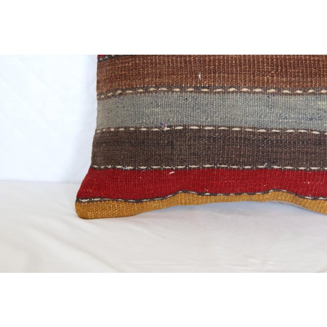 """Turkish Vintage Decorative Handmade Pillow Cover - 16"""" x 16"""" For Sale - Image 4 of 7"""