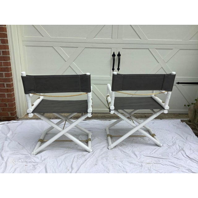 1970s McGuire Directors Chairs, 2 For Sale - Image 5 of 11