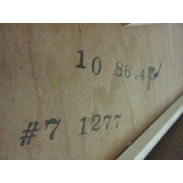 Ethan Allen Heirloom Formica Top Drop Leaf Nutmeg End Table - Image 8 of 11