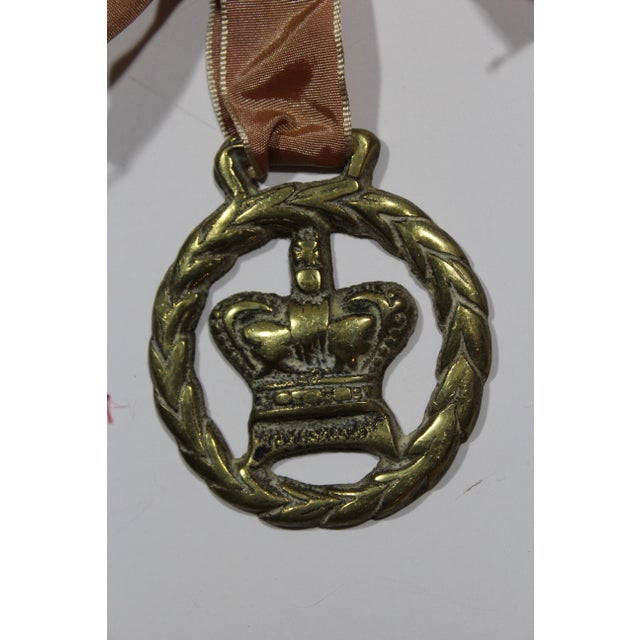 Antique English Horse Brass Crown Ornament - Image 3 of 3