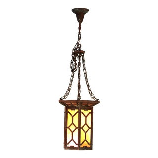 Huge Arts and Crafts Copper Hanging Lantern For Sale