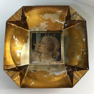 Vintage Italian Gilt Glass Ashtray Preview