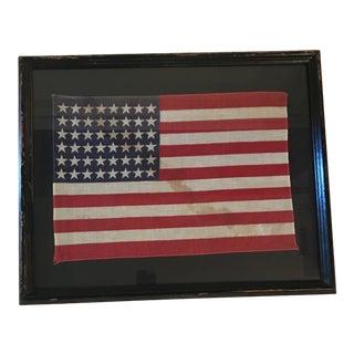 48 Star American Flag, Framed For Sale