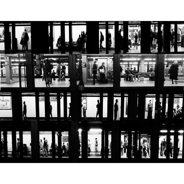"""Subway Voyeur"", New York City, 2015 - Image 2 of 2"