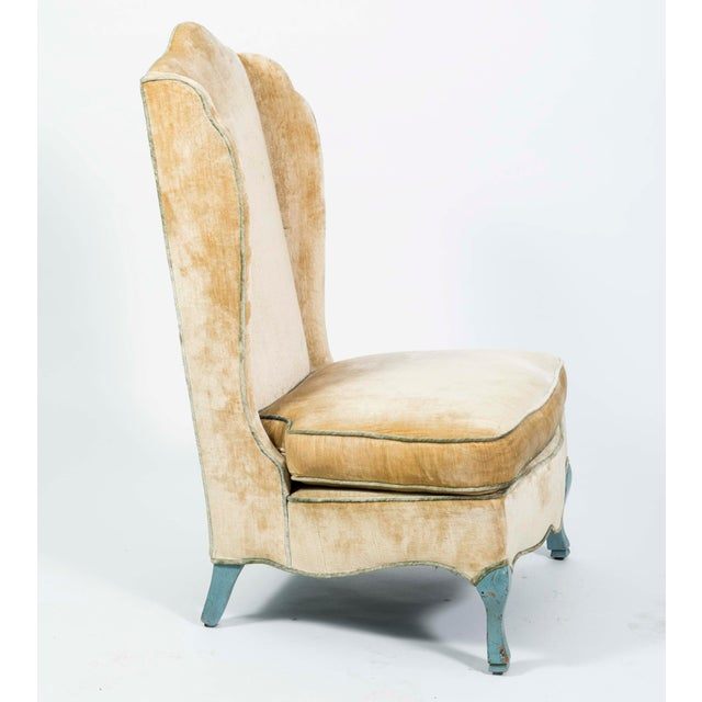 French Provincial Style Winged Slipper Chairs - A Pair - Image 3 of 8