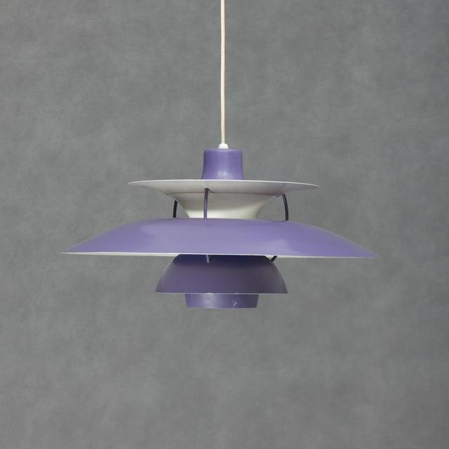 Louis Poulsen Ph5 Purple Pendant Lamp For Sale In New York - Image 6 of 6