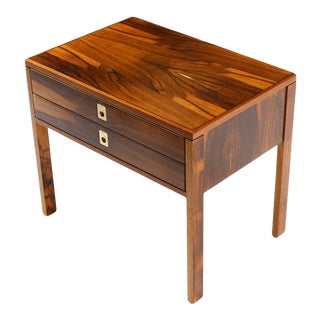 1960s Danish Modern Rosewood Nightstand For Sale