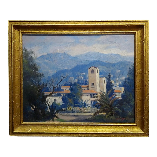 David Gershuni - Griffith Park, Los Angeles 1930s-Oil Painting For Sale