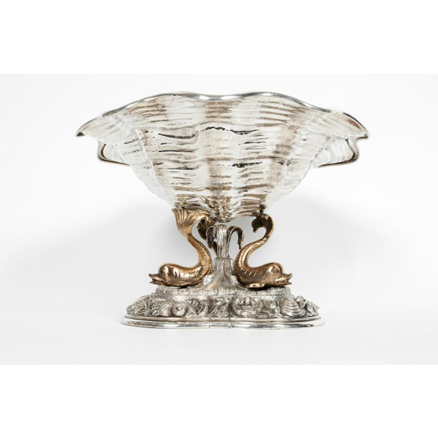 Early 19th Century Large Antique Sterling Silver Centerpiece For Sale - Image 5 of 13