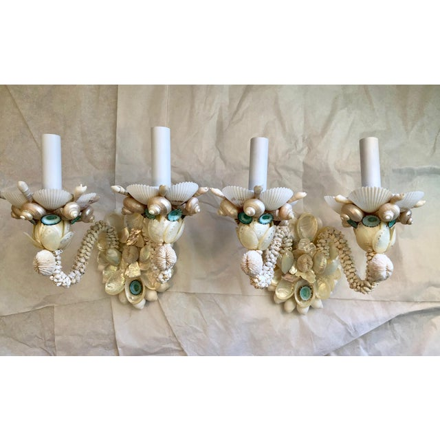 Two-Light Seashell Sconces - a Pair For Sale In West Palm - Image 6 of 6