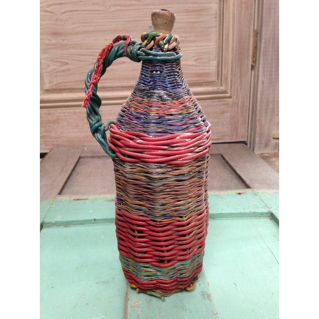 European Mid-Century Tramp Art Wire Miners Bottle For Sale - Image 5 of 8