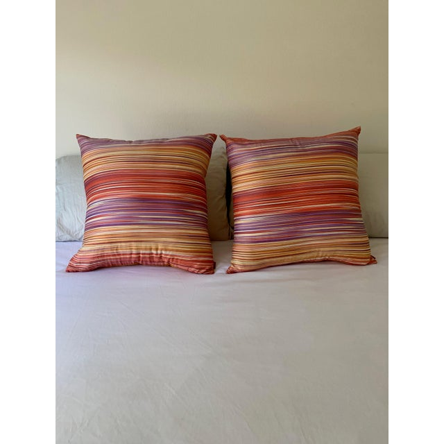 Abstract Missoni Home Large Decorative Pillows - Pair For Sale - Image 3 of 10