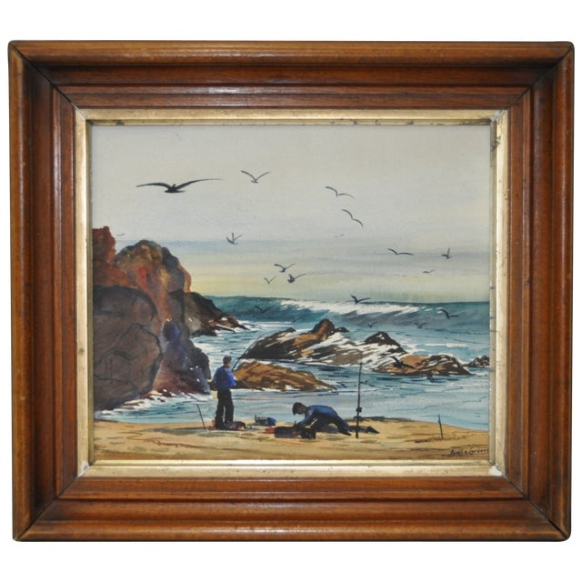 James A. Lawrence Watercolor Painting C.1940s - Image 1 of 5