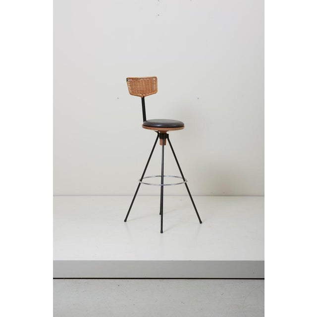 Arts & Crafts House Bar and Four Bar Stools by Prof. Herta-Maria Witzemann for Erwin Behr For Sale - Image 3 of 13