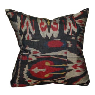 Vintage Ikat Artisan Pillow For Sale
