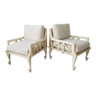 """1960s Upscale John Hutton """" Thebes """" Club Chairs - a Pair For Sale"""
