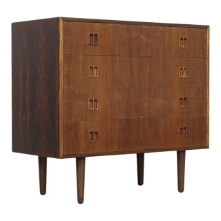 Vintage Mid Century Danish Modern Rosewood Sideboard or Dresser For Sale