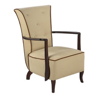 1940s Vintage French Art Deco Armchair For Sale