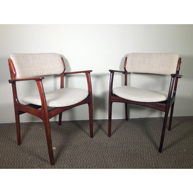 Set of 6 Rosewood Mid Century Danish Dining Chairs by Erik Buch Buck For Sale - Image 12 of 13