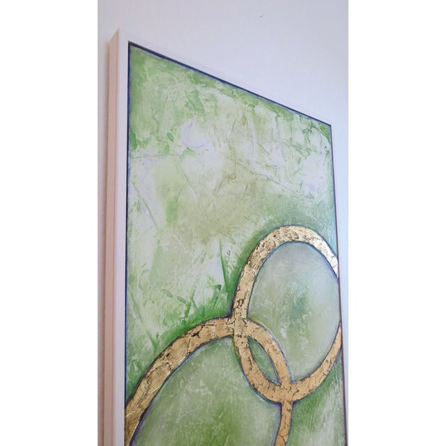 Framed Infinity Series Mixed Media Painting - Image 4 of 5