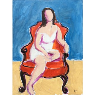 Seated Woman I' Oil Painting For Sale