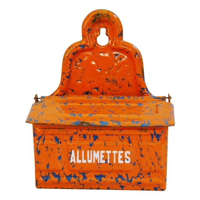 1940s French Enamel Allumettes Holder - Image 1 of 7