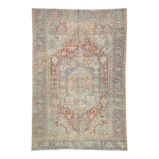 Antique Persian Heriz Rug 07'09 X 11'06 For Sale