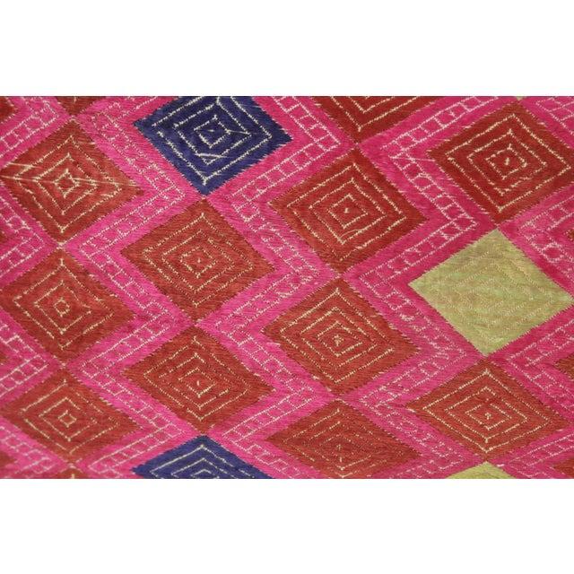 Framed Diamond Antique Swati Pillow - Image 2 of 3