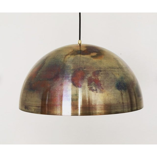 Mid-Century Modern Patinated Copper Dome Pendant Lamp by Beisl For Sale - Image 9 of 9