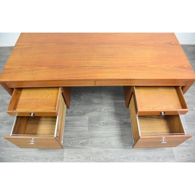 "Brown Teak Executive ""Diplomat"" Desk by Finn Juhl For Sale - Image 8 of 13"
