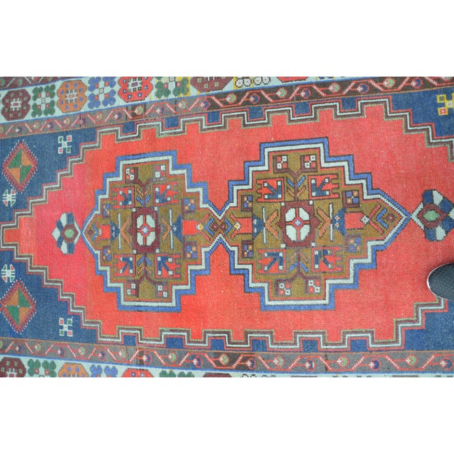 Vintage Turkish Handmade Rug - 4′1″ × 7′8″ - Image 4 of 6