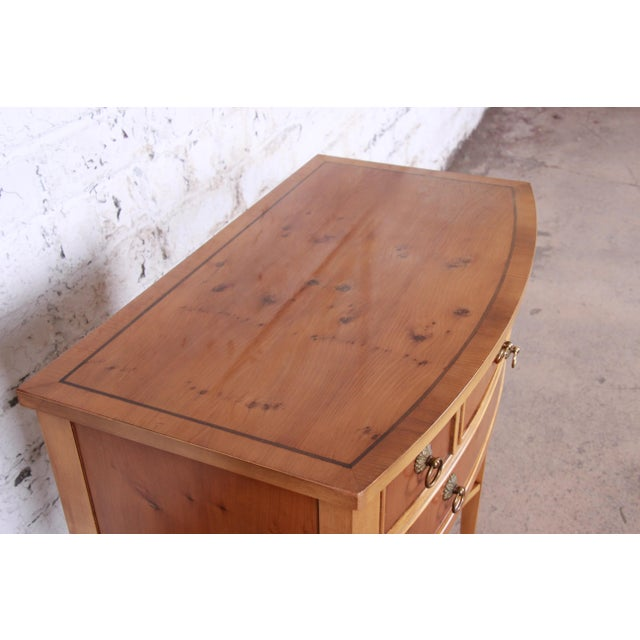 Gold Baker Furniture Neoclassical Burl Wood Entry Table For Sale - Image 8 of 13