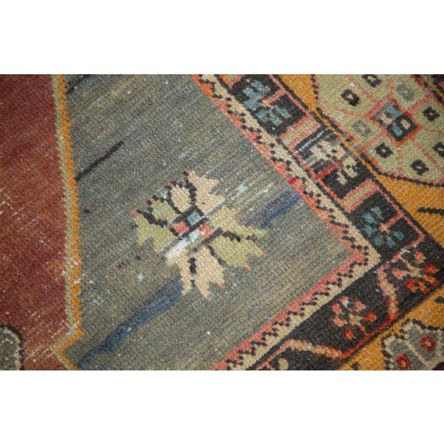 "Vintage Distressed Oushak Rug Runner -3'11"" x 9'2"" For Sale - Image 5 of 11"