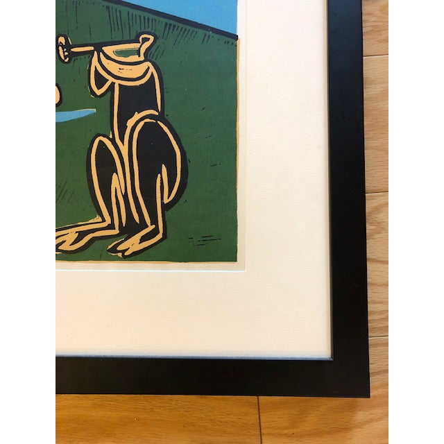 Pablo Picasso 1960's Original Picasso Linocut Dancing Musicians With Bull For Sale - Image 4 of 6