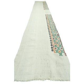 "Vintage Turkish Modern Kilim Runner-2'4'x14'7"" For Sale"