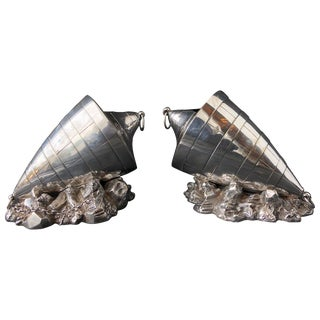 Pair of Victorian Sheffield Silverplate Spoon Warmers by Atkin Brothers, Buoy For Sale